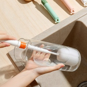 Long Handle Insulation Removable Cleaning Cup Brush