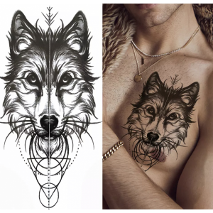 Animal Printed Non Toxic Skin Friendly Easy Pasting Tattoo - Black