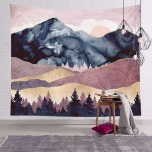 Wall Hanging Tapestry Home Decor Mountain Design