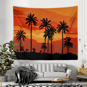 Wall Hanging Tapestry Home Decor Palm Tree Design
