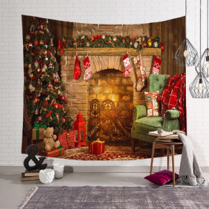Wall Hanging Tapestry Home Decor Christmas Tree Design