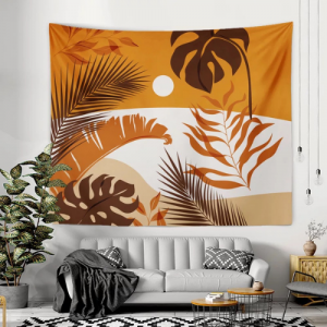 Wall Hanging Tapestry Home Decor Leaves Design