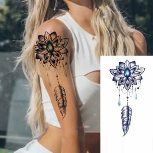 Printed Non Toxic Skin Friendly Easy Pasting Tattoo - Blue