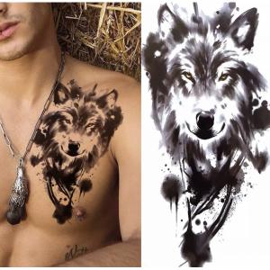 Animal Print Non Toxic Skin Friendly Easy Pasting Tattoo - Black