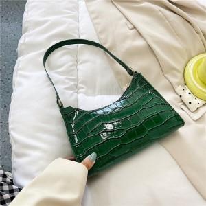 Synthetic Leather Zipper Closure Women Fashion Handbag