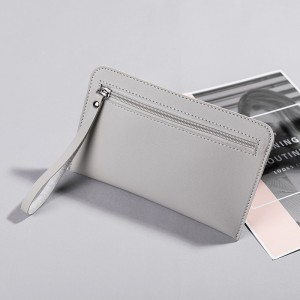 Solid Color Zipper Closure Vintage Women Wallet