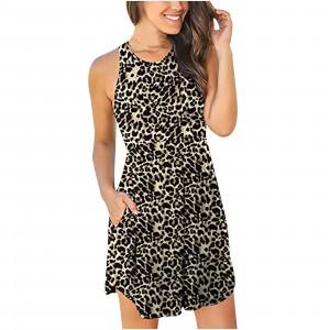 Animal Print Halter Neck Sleeveless Mini Dress
