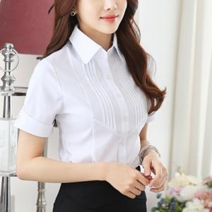 Tuxedo Style Button Closure Solid Color Shirt - White