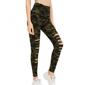 Ripped Cut Out Body Fitted Narrow Bottom Trouser Pants
