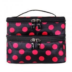 Zipper Closure Two Compartment Travel Bags - Hot Pink