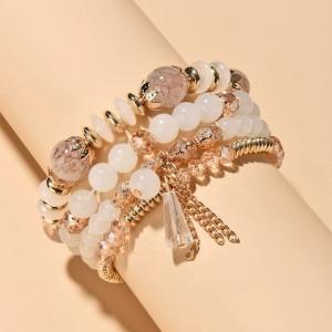 Multi Layered Rhinestones Decorative Bracelets Set
