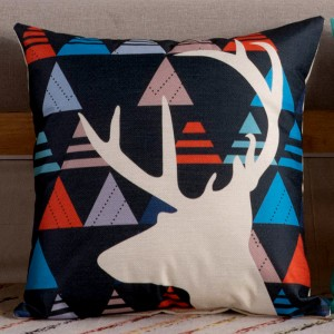 Cute Graphic Print Home Living Office Sofa Pillow Cover - Black Multicolor