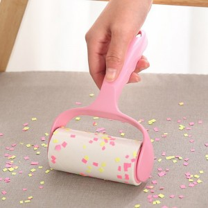Dust Sticking Paper Roller Tearable Clothes Dusting Lint Hair Removal Brush