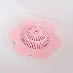 Flower Shaped Multi Purpose Kitchen Drain Filter - Pink