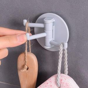 Rotatable Seamless Hole Free Bedroom Bathroom Kitchen  Wall Hook