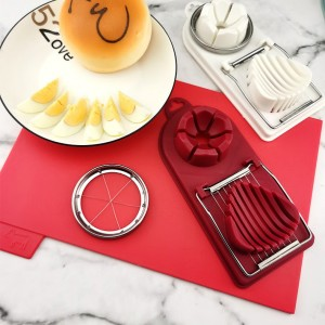 Multifunction Two In One Double Headed Egg Slicer - Red
