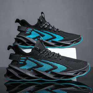 Canvas Lace Closure Slip Over Men Sneakers - Blue