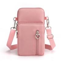 Zipper Closure Vertical Women Fashion Shoulder Bags - Pink