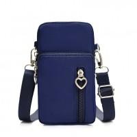 Zipper Closure Vertical Women Fashion Shoulder Bags - Blue