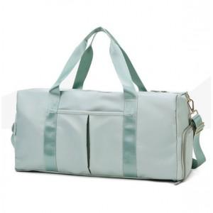 Wide Space Traveller Nylon Canvas Zipper Travel Bags - Green