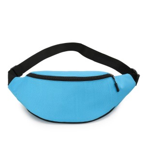 Zipper Closure Adjustable Traveller Fanny Packs - Blue