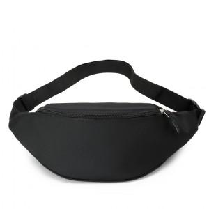 Zipper Closure Adjustable Traveller Fanny Packs - Black