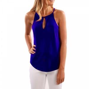 Spaghetti Strap Summer Wear Blouse Top - Blue