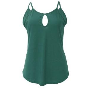 Spaghetti Strap Summer Wear Blouse Top - Green