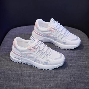 String Lace Closure Sports Wear Women Sneakers - Pink