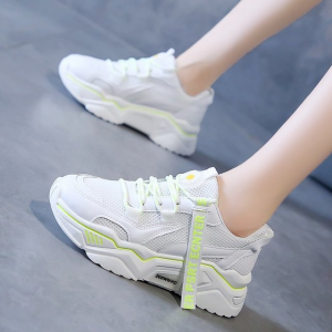 Lace Closure Soft Sole Sports Wear Sneakers - White