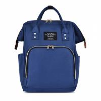 Zipper Closure Solid Color Women Fashion Handbags - Blue