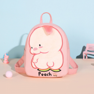 Cartoon Thread Art Canvas Mini Backpack - Pink