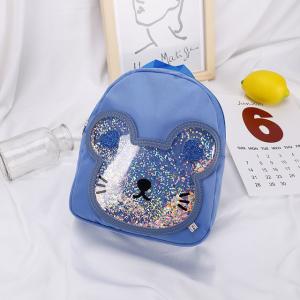 Bear Glitter Fancy Cute Mini Backpacks - Blue