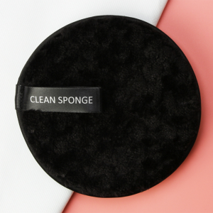 Fancy High Quality Face Makeup Cleaning Sponge - Black