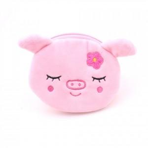 Zipper Closure Cute Handheld Wallet Pouch - Pink
