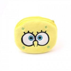 Zipper Closure Cute Handheld Wallet Pouch - Yellow