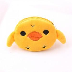 Zipper Closure Cute Handheld Wallet Pouch - Orange