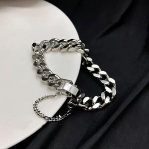 Silver Plated Hook Closure Women Fashion Bracelet - Silver
