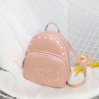 Zipper Closure Unicorn Butterfly Print Mini Backpack - Pink