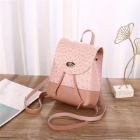 Twist Lock Contrast Plain Mini Backpacks - Pink