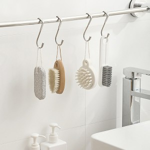 Stainless Steel Multipurpose Kitchen Bathroom Gadgets Hock - Silver