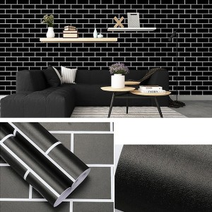 5 Meters Full Cover Bedroom Kitchen Decoration Wall Stickers - Black
