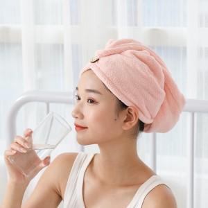 Quick Drying Women Bath Hair Towel - Pink