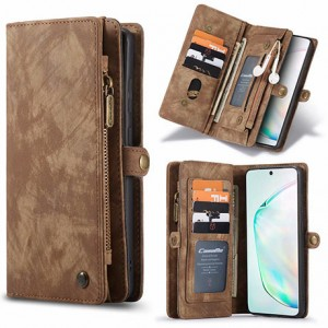 iPhone 11 Detachable Leathers Cover - Brown