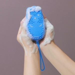 Creative Double Sided Massage Scalp Bath Brush - Blue