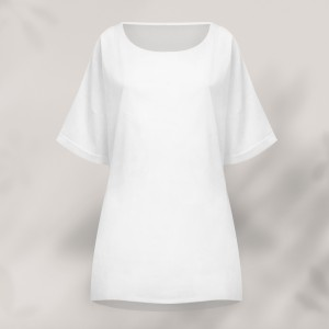Solid Color Plain Casual Summer Wear Top - White