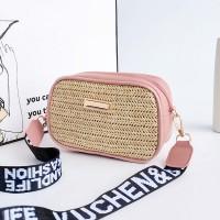 Zipper Closure Shoulder Strap Women Messenger Shoulder Bag - Pink
