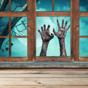 Halloween Scary Ghost Hand Window 3D Sticker