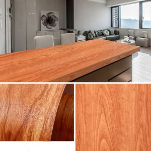 Wooden Pattern Multipurpose Bedroom Kitchen Decor Sticker - Light Brown