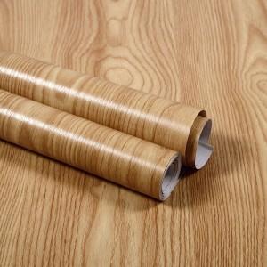Wooden Pattern Multipurpose Bedroom Kitchen Decor Sticker - Light Coffee